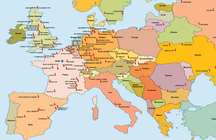 mappa delle centrali nucleari del mondo