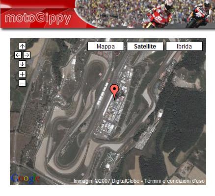 i circuiti del motogp visti dal satellite