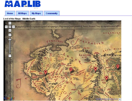 MapLib - raccolta di mappe per Google Maps