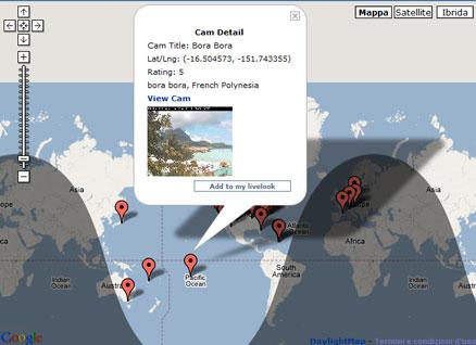Web cam su google maps